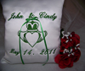Personalized Wedding Pillow Claddagh Design 104