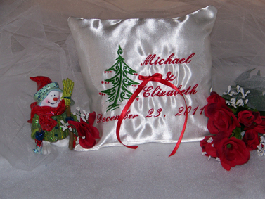 Personalized Wedding Pillow Dove Design 101 - Click Image to Close