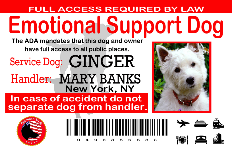 how to register dog as emotional support canada