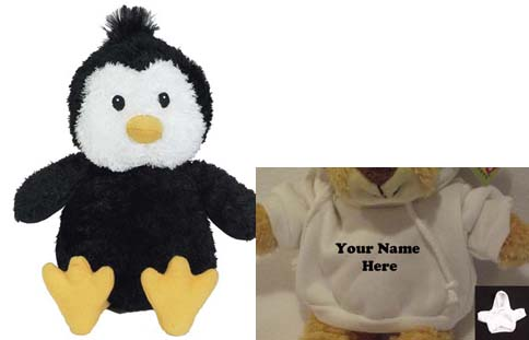 10 Cuddle Pal Penguin With Personalized Hoodie 19 99