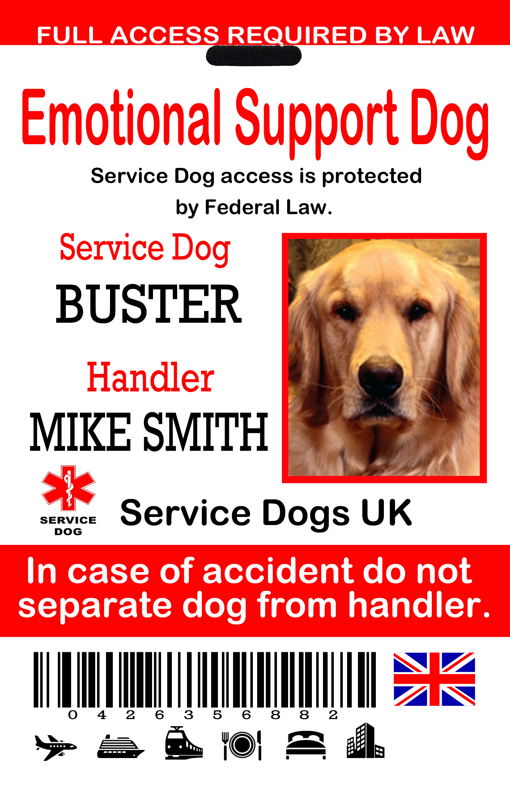 uk service dog id tags the sewing network. Black Bedroom Furniture Sets. Home Design Ideas