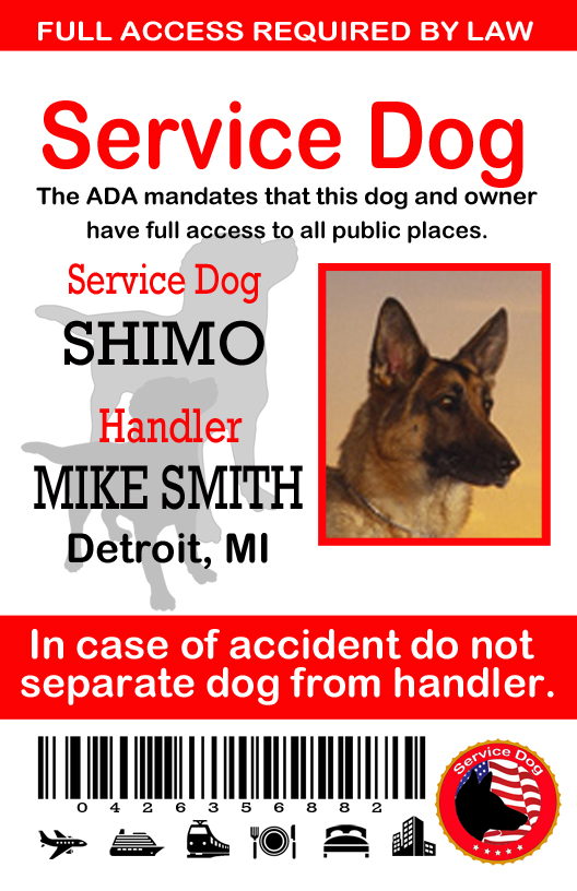 Service Dog Id Card Template from sewingnetwork.net