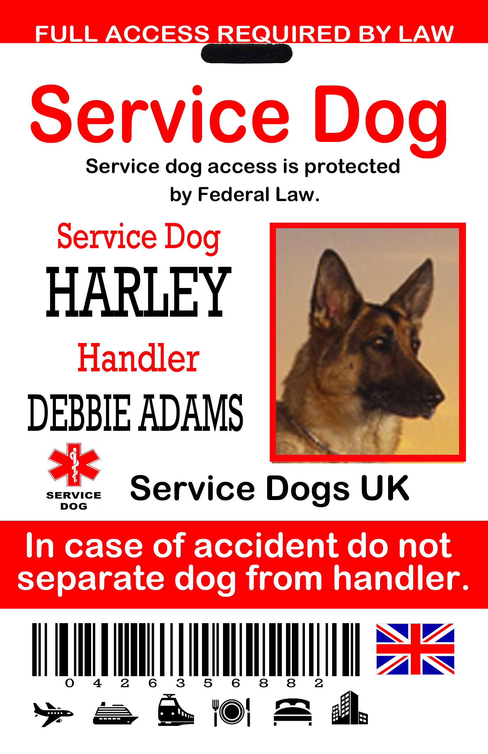 Service Dog Id Tag Uk