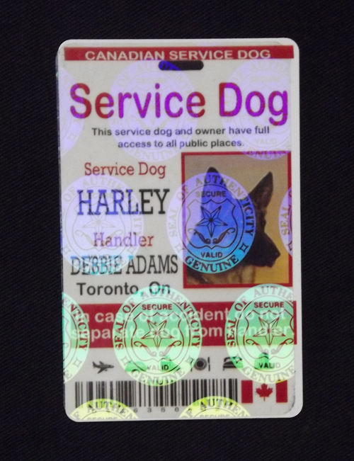 c9318c9e5216 Holographic Service Dog ID Tag Canada - $22.50 : The Sewing Network