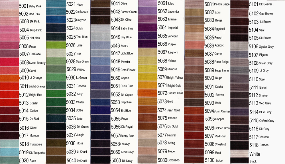 embroidery thread color chart tamarac